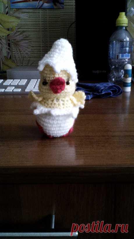 мой цыпленок связанный по МК Иринка-картинка
