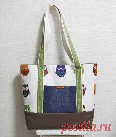 Текстильная сумка!  #прошитье #сумка