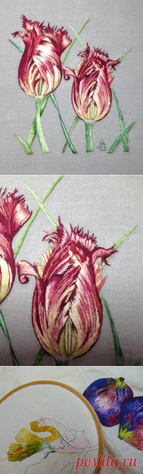 Peinture à l'aiguille réalisée par Anne Marie - Blog de Catherine Laurencon