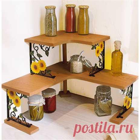 Полки в интерьере кухни (декор)