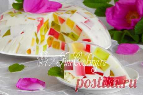 Торт Битое стекло Еще один простой рецепт десерта, который как нельзя лучше подойдет для знойного летнего времени.