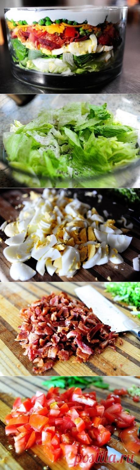 Как приготовить слоеный салат - рецепт, ингридиенты и фотографии