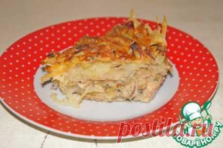 Запеканка из курицы под картофельной стружкой - кулинарный рецепт