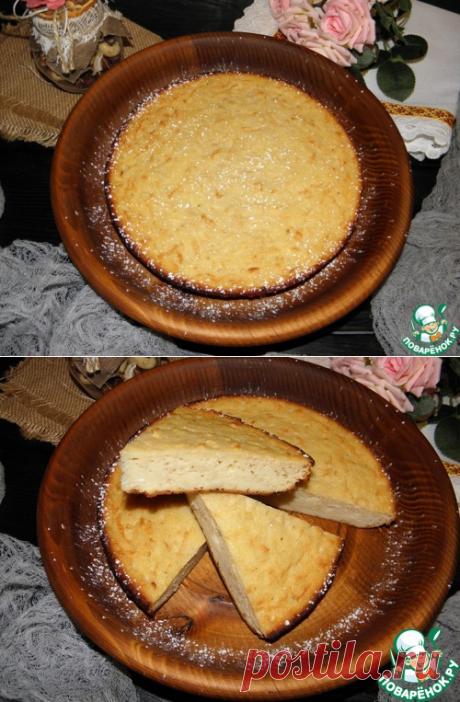 """Манно-яблочный пирог """"Сочный"""" – кулинарный рецепт"""
