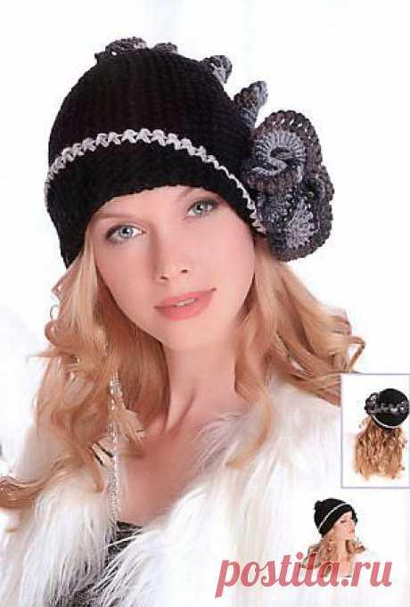 Шляпка «Парижанка» » Вязание, вязание спицами, вязание крючком, Схемы вязания, вышивание, макраме, бисероплетение - все это на нашем сайте