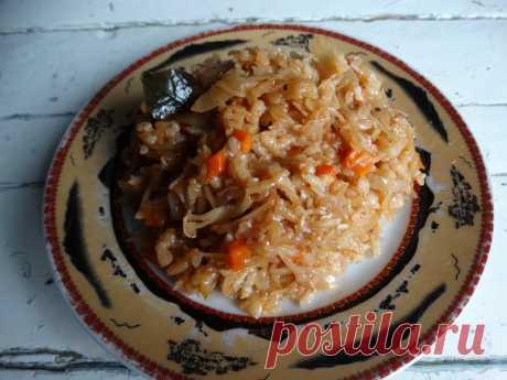 Капуста, прожаренная с рисом. Себестоимость минимальна, а вкус бесподобный - Пир во время езды