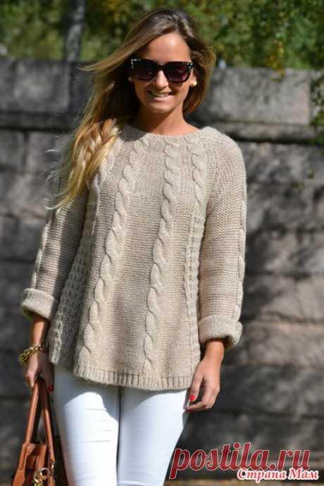 Онлайн пуловер из ангоры - Страна Мам