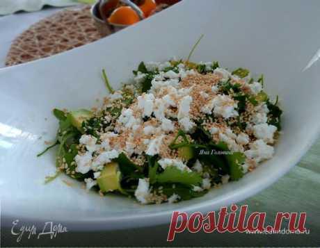 Салат с апельсинами, авокадо и сыром фета , пошаговый рецепт, фото, ингредиенты - Яна