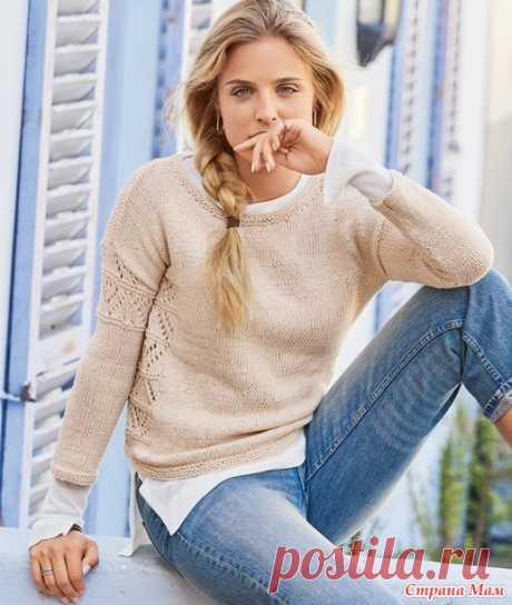 Джемпер с ажурным зигзагообразным узором - Вязание - Страна Мам