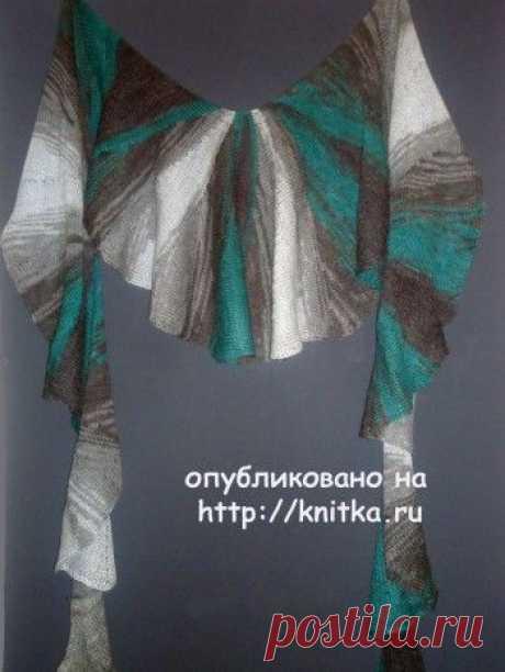 Шаль связаная спицами с описанием и схемой вязания, Вязание для женщин