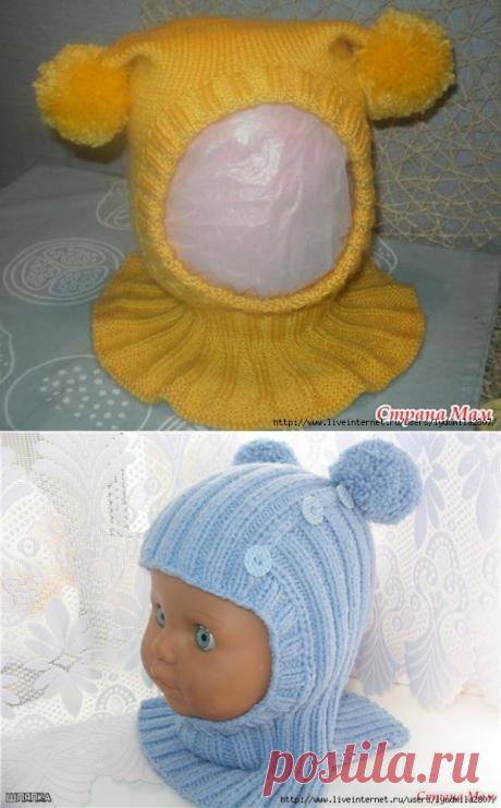 Шапочки-шлемы малышам