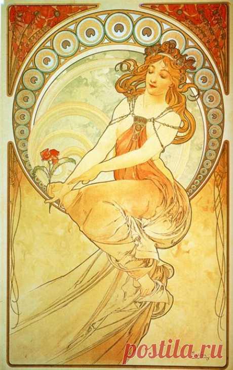 Схемы вышивки крестом картин Альфонса Мухи