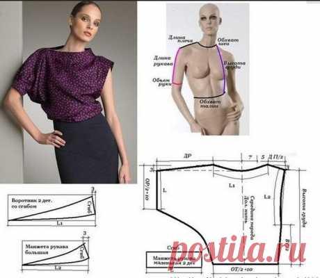 Очень простые выкройки блузок (подборка)