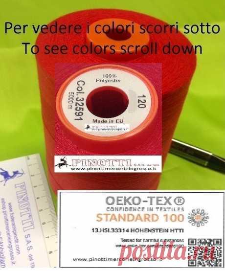 FILO CUCITUTTO POLILUX 120 - 5.000 MT- COL PRONTI - MADE IN EUROPE - Tessuti e merceria online