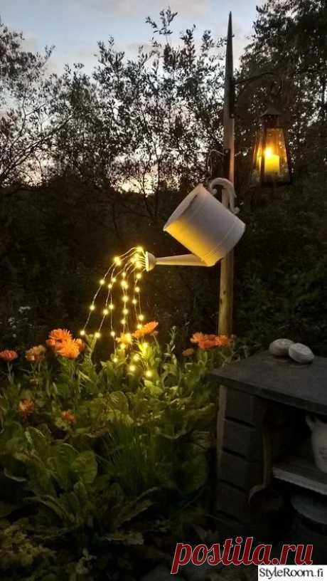 Необычные светильники в сад