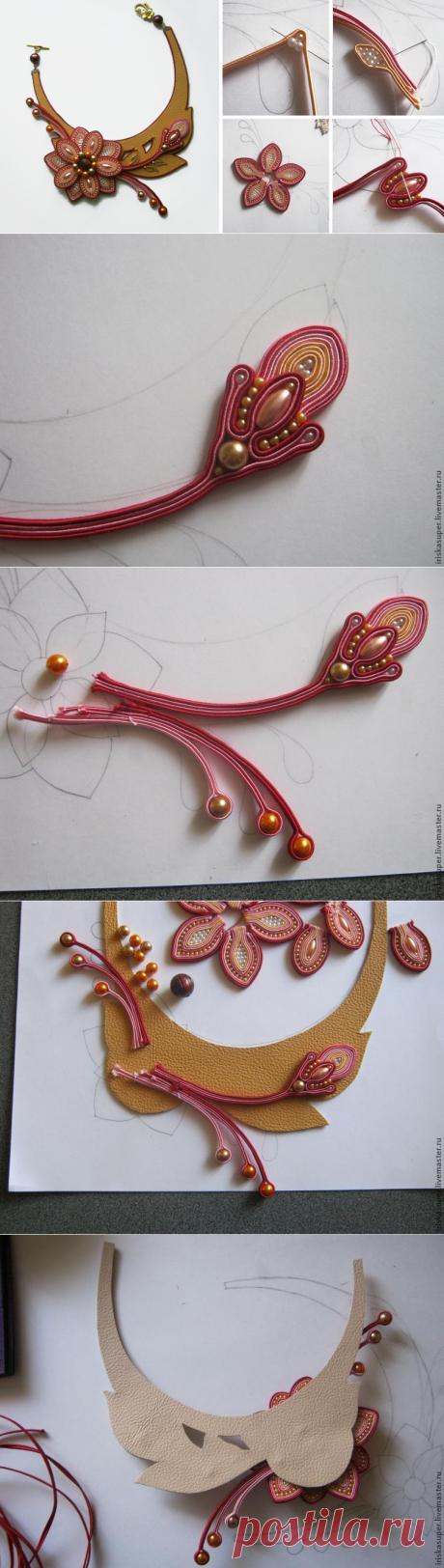 """Изготовление сутажного колье """"Эвридика"""". Часть 2 - Ярмарка Мастеров - ручная работа, handmade"""