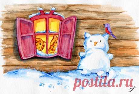 Сообщество иллюстраторов | Иллюстрация Зимушка-зима.