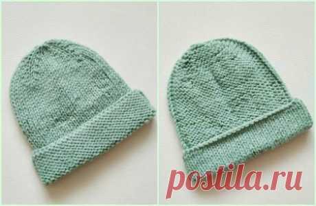 Модная двусторонняя шапка бини спицами на зиму » «Хомяк55» - всё о вязании спицами и крючком