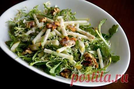 Медовый хрустящий яблочный салат с грецкими орехами | О вкусной еде