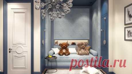 Дизайн-проект интерьера детской комнаты для мальчика в Москве Дизайнер — Александра Клямурис