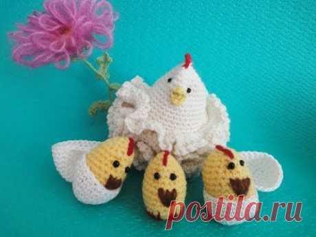 Пасхальная курочка Часть 2 Easter chicken Part 2 Crochet - YouTube