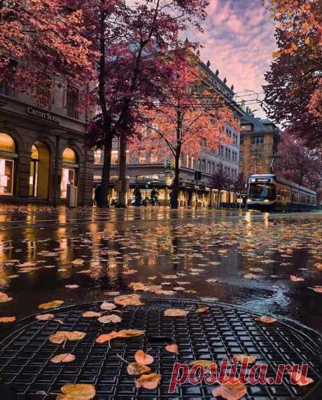 Осенний Цюрих, Швейцария