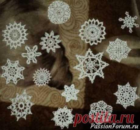 Вязаные снежинки (продолжение) - запись пользователя Елена в сообществе Вязание крючком в категории Вязаные крючком аксессуары