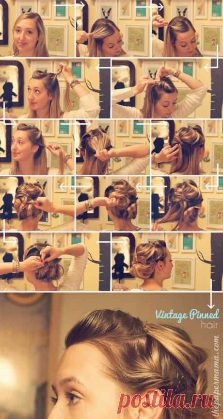 Vintage hairdress: zhgutik, zhgutik, zhgutik!