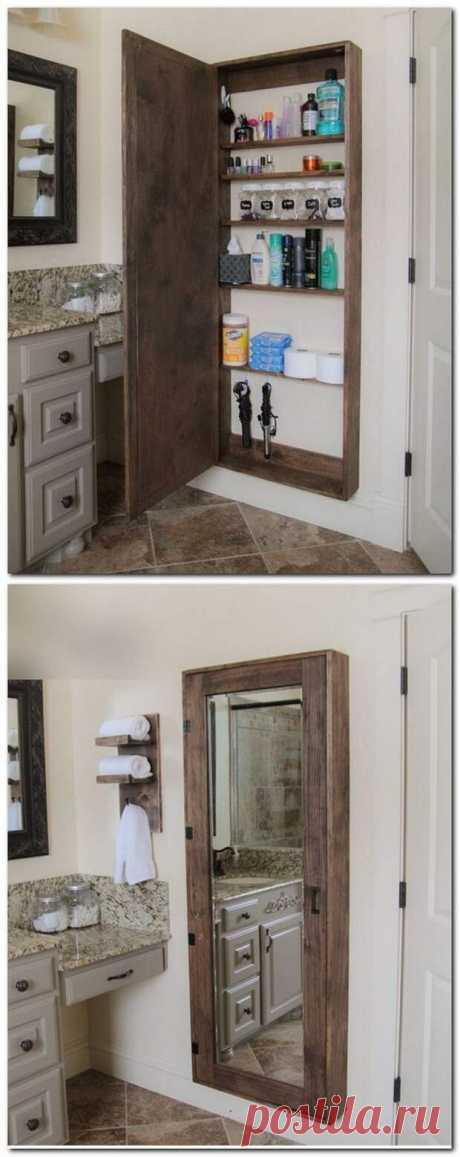Идеи мебели для ванной или кухни своими руками Как Вам такой шкафчик для ванной комнаты? Это не только стильная, но... Читай дальше на сайте. Жми подробнее ➡