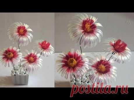 Цветы из атласных лент | атласная лента