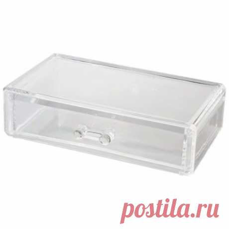 Органайзер для косметики с ящиком, 18,7 х 11,5 х 5,3 см — купить по цене от 430 руб.