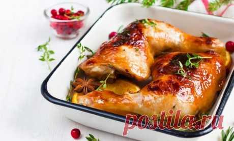Куриный окорочок в медово-чесночном маринаде с кабачками — Sloosh – кулинарные рецепты