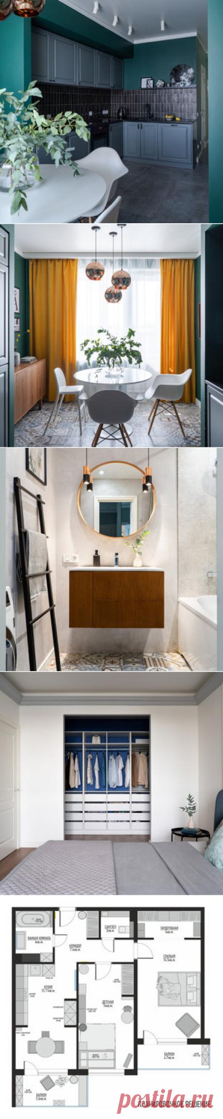 Дизайн-проект квартиры в ЖК Bonava - Санкт-Петербург - от эксперта YUHOME design  studio. - 4 комнаты - 80 м2 - кухня-гостиная - 2 спальни - балкон, лоджия