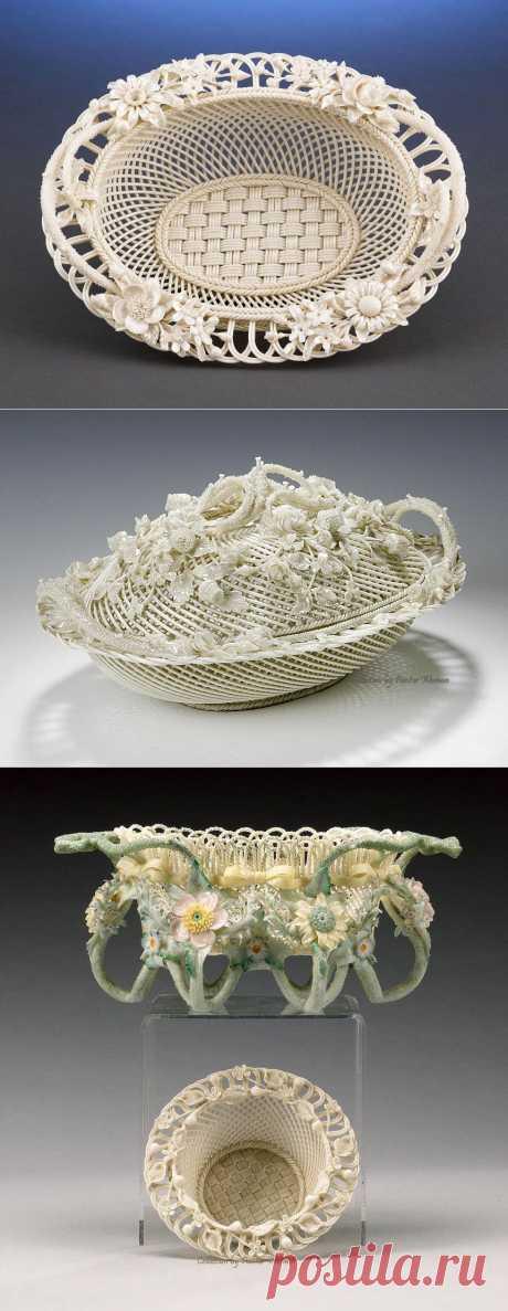 Irish Porcelain Belleek | Белое ирландское фарфоровое плетение.