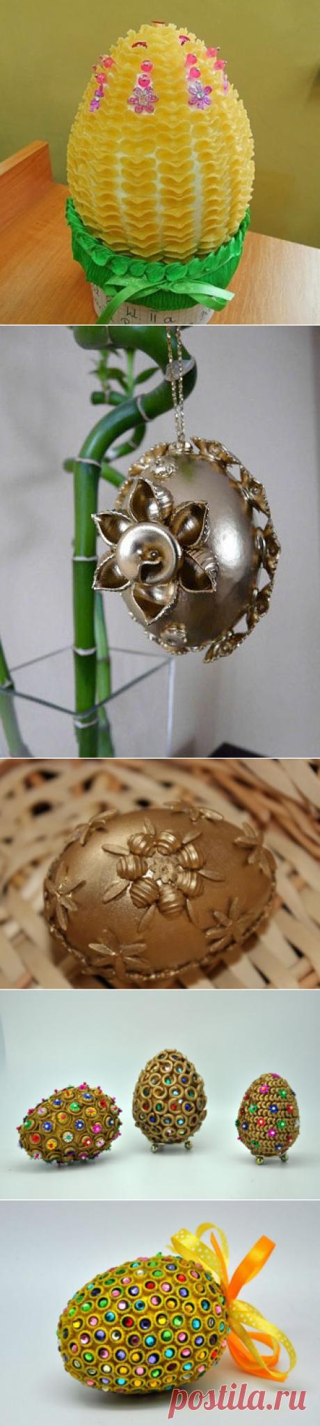 Яйца декорированные макаронами - Домашний hand-made