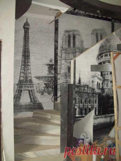 фреска на кракелюре для лестницы ― Дизайн-ателье «Элеганс»