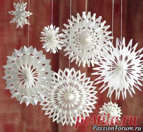 Креативные снежинки - запись пользователя Зоя (Михална) в сообществе Работа с бумагой в категории Другие поделки из бумаги и картона