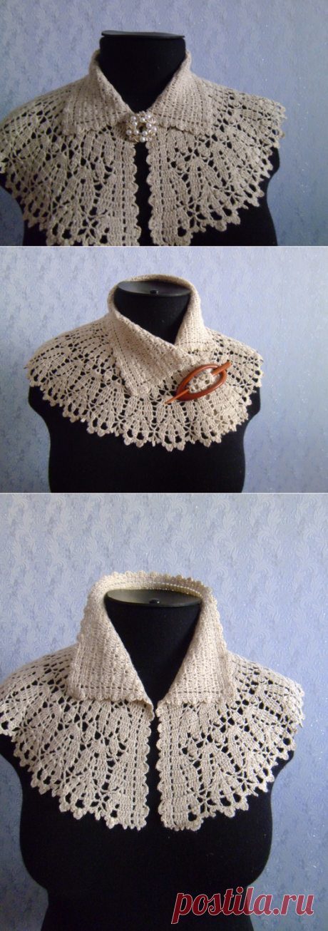 Removable collar shirtfront.