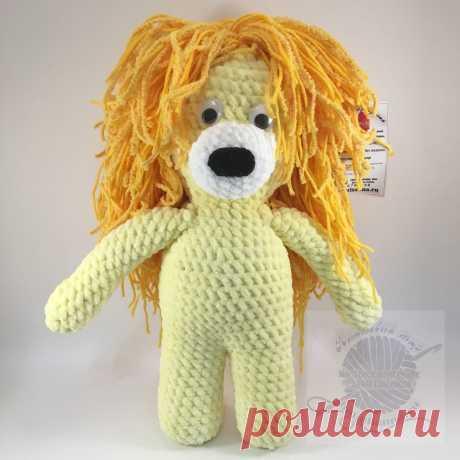 Плюшевая игрушка лев, вязаный крючком, желтый, 30 см | Плюшевая игрушка лев, вязаный крючком, желтый, 30 см Плюшевая игрушка лев станет самой любимой игрушкой вашего ребенка. Благодаря велюровой пряже, игрушка наделяется неповторимой мягкостью и нежности которую просто не хочется выпускать из рук.Купить недорого! Доставка по России!