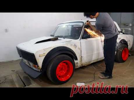 Купе - кабриолет из ВАЗ 2106. Срезаю крышу и удлиняю двери. Спортивное купе. Часть 1