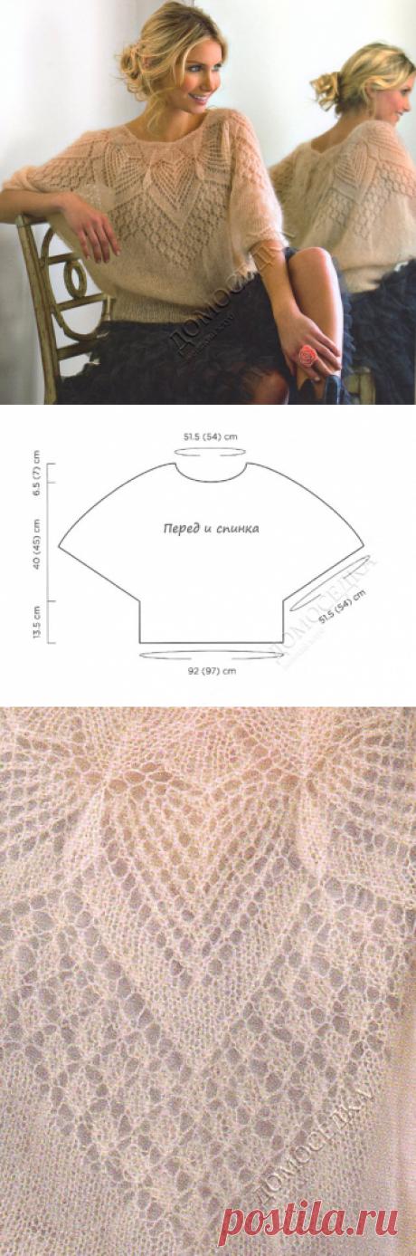 Вязание ажурной блузы из мохера | ДОМОСЕДКА