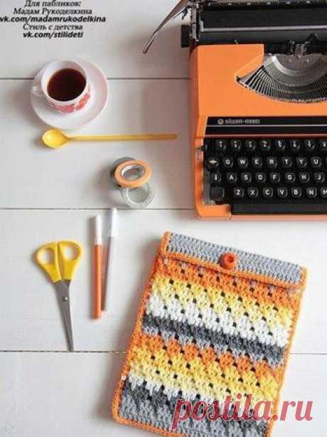 Вяжем крючком сумочку для телефона.Схема  #вязание_крючком  #схема_вязания Подписывайтесь на наши новости. Будьте с нами!!