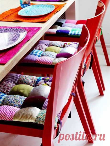 SOFT REMOVABLE SITTING ON CHAIRS FROM RAGS (Quilting) | the Magazine Inspiration of the Needlewoman