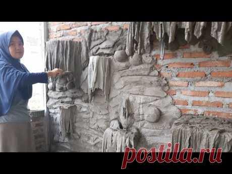 Membuat pot bunga pada dinding relief