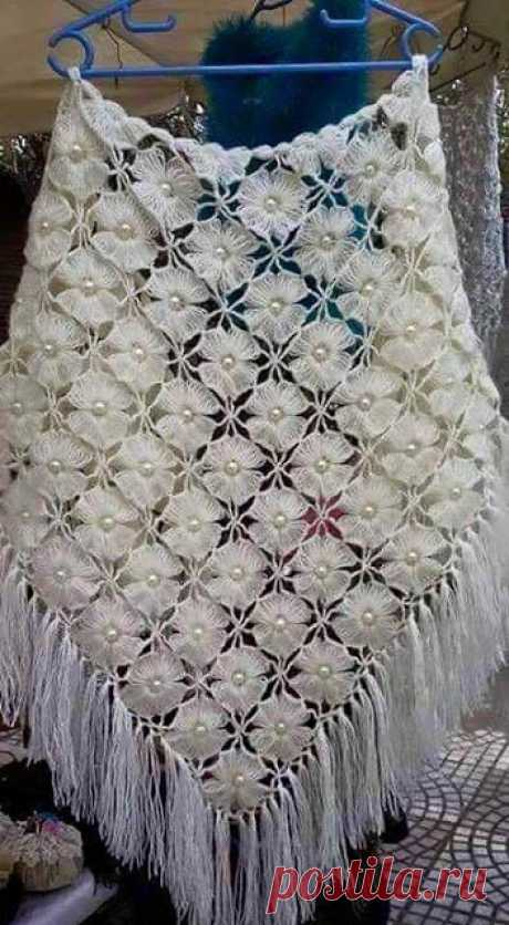 Цветочная шаль