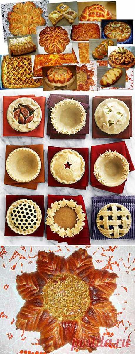 Супер сайт!!!Оформление(разделка) пирогов и булок. Работа с тестом. Мастер-классы от Valentina Zurkan.