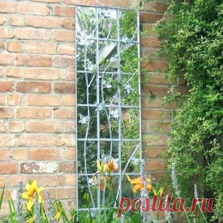 Зеркало с саду - прекрасный декор!