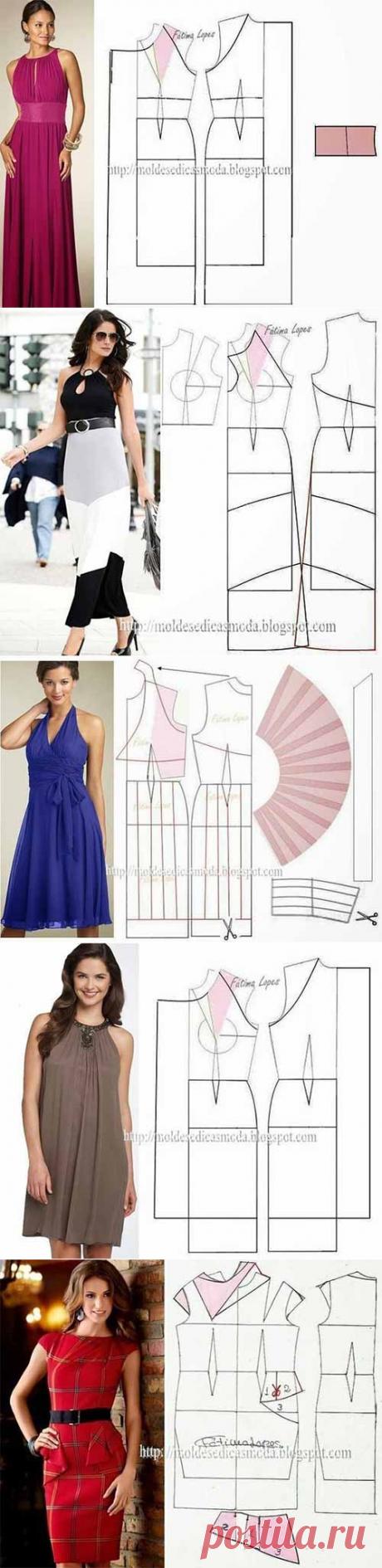 Выкройки-шаблоны платьев