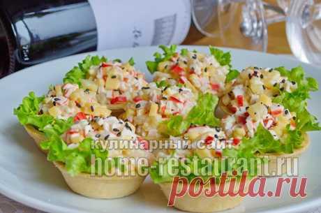Начинка для тарталеток с ананасом и крабовыми палочками - Домашний Ресторан