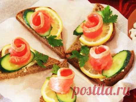 Бутерброды с красной рыбой — 10 рецептов для праздничного стола — Едим дома